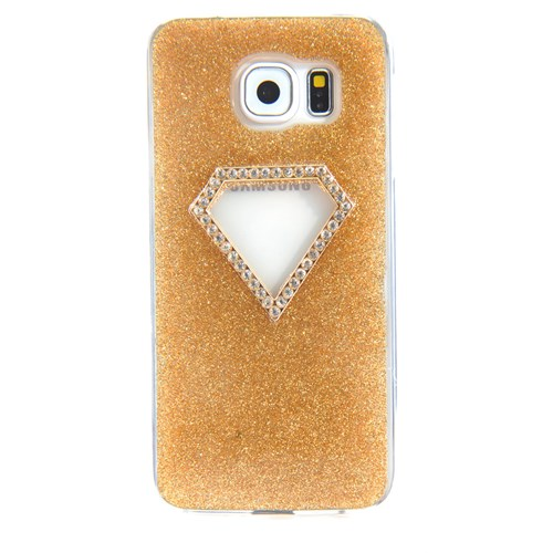 CoverZone Samsung Galaxy S6 Edge Taşlı Silikon Kılıf Dore