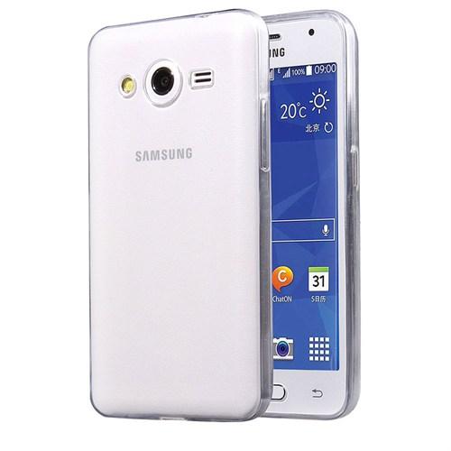 Case 4U Samsung Galaxy Core 2 Ultra İnce Silikon Kılıf Şeffaf