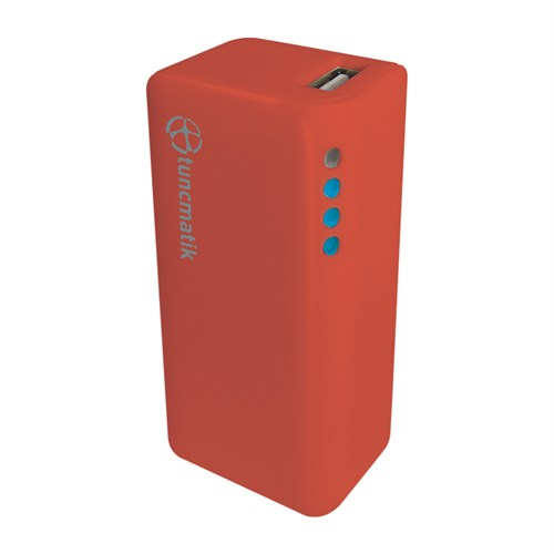Tunçmatik Mini Charge 2000 mAh Kırmızı Taşınabilir Şarj Cihazı - TSK5064