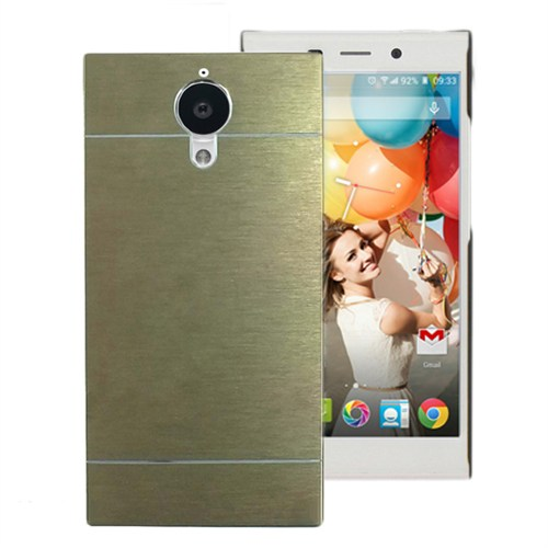 Microsonic General Mobile Discovery Elite Kılıf Hybrid Metal Gold