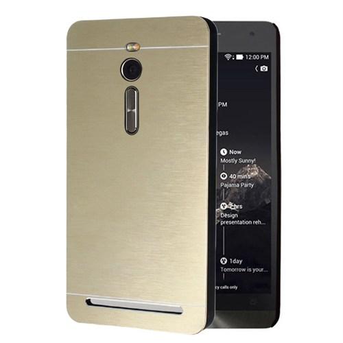 Microsonic Asus Zenfone 2 5.5'' Kılıf Hybrid Metal Gold