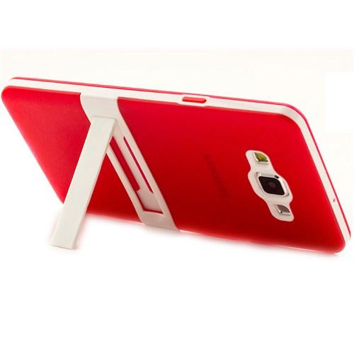 Microsonic Samsung Galaxy A7 Kılıf Standlı Soft Kırmızı