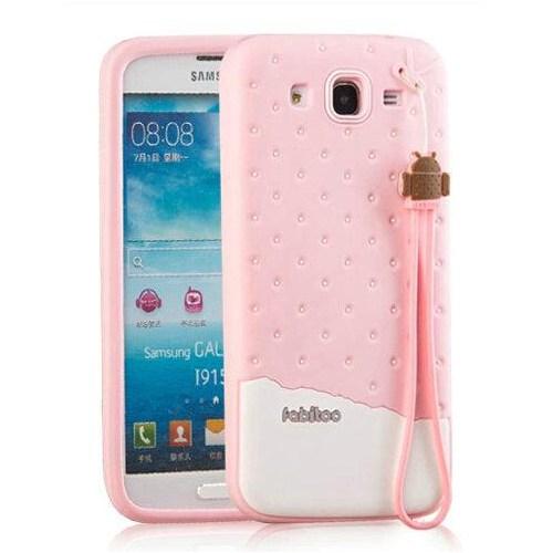Fabitoo Samsung Galaxy Mega 5.8'' Candy Kılıf Pembe