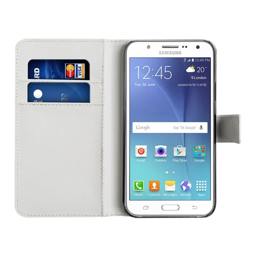 Microsonic Samsung Galaxy J5 Kılıf Cüzdanlı Deri Beyaz