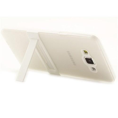 Microsonic Samsung Galaxy A7 Kılıf Standlı Soft Beyaz