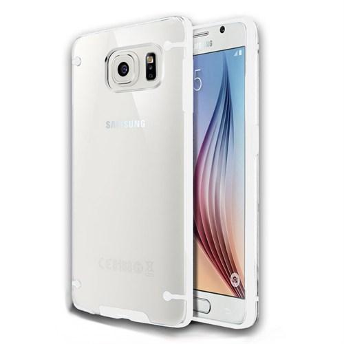 Microsonic Samsung Galaxy Note 5 Kılıf Hybrid Transparant Beyaz