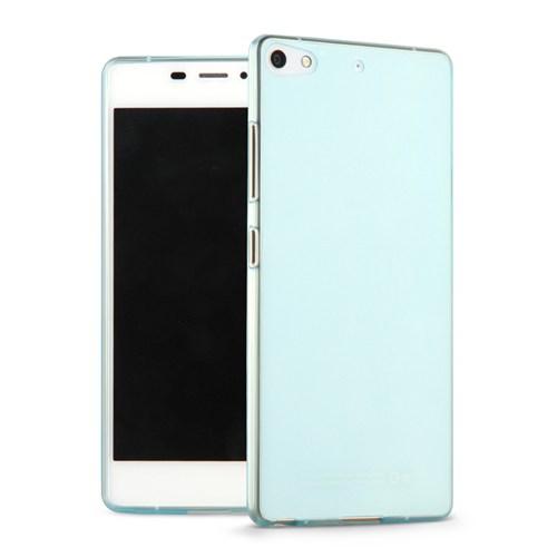 Microsonic General Mobile Discovery Elite Plus Kılıf Transparent Soft Mavi