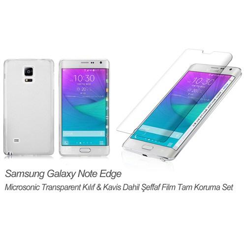 Microsonic Samsung Galaxy Note Edge Transparent Kılıf & Kavis Dahil Film Tam Koruma Set