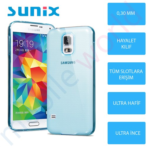 Sunix Samsung Galaxy Note 5 Cam Ekran Koruyucu + Ultra İnce Silikon Kapak Mavi
