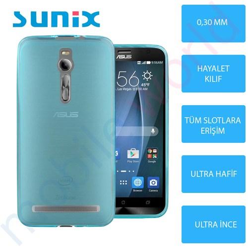 Sunix Asus Zenfone 6 Ultra İnce Silikon Kapak Mavi