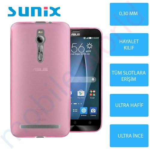 Sunix Asus Zenfone 2 Ultra İnce Silikon Kapak Pembe