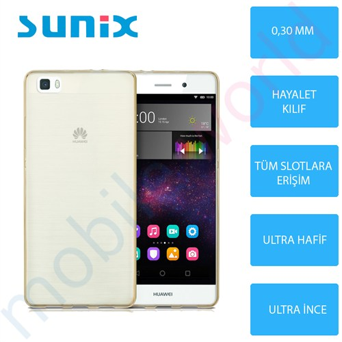 Sunix Huawei P8 Lite Ultra İnce Silikon Kapak Gold