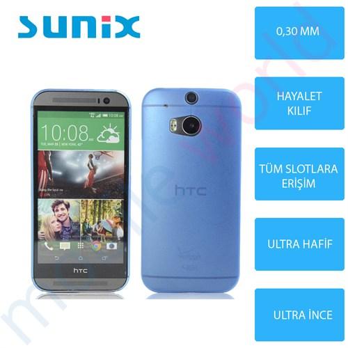 Sunix Htc Desire Eye Ultra İnce Silikon Kapak Mavi