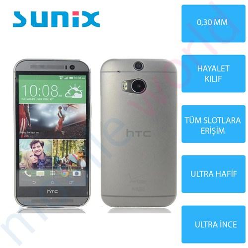 Sunix Htc Desire 816 Ultra İnce Silikon Kapak Füme