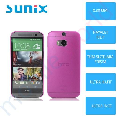 Sunix Htc Desire 816 Ultra İnce Silikon Kapak Pembe