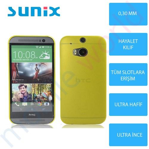 Sunix Htc Desire 620 Ultra İnce Silikon Kapak Gold
