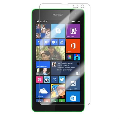 Case 4U Microsoft Lumia 535 Ultra Şeffaf Ekran Koruyucu