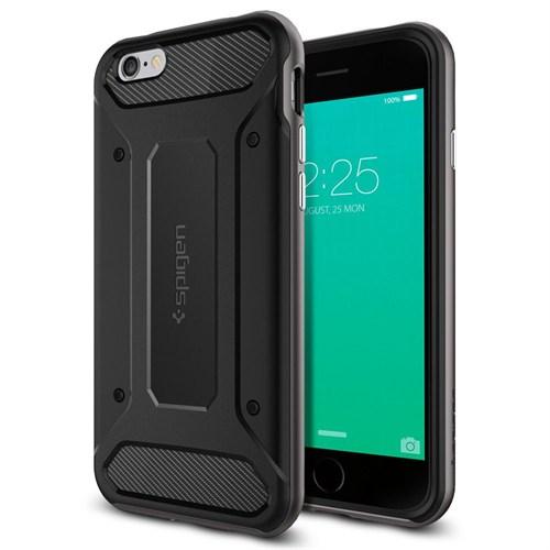 Spigen Apple iPhone 6S Plus Kılıf Spigen Neo Hybrid Carbon Gun Metal - 11666