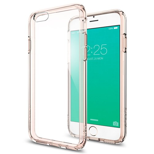 Spigen Apple iPhone 6S Plus Kılıf Spigen Ultra Hybrid Rose Crystal - 11726