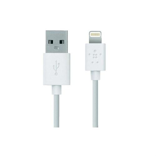 Belkin iPhone 6 Plus/6/5S/5C/5/iPad Mini/iPad Air Lightning Data Kablosu - BLK-218 (MFI) - BLK-521