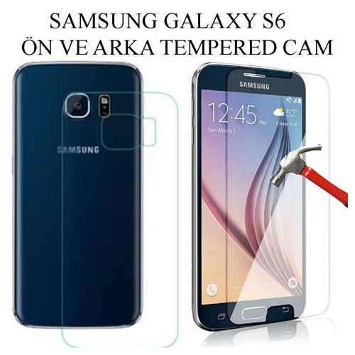 Markacase Samsung Galaxy S6 Ön Arka Tempered Cam Koruyucu