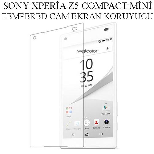 Markacase Sony Xperia Z5 Compact Mini Tempered Cam Ekran Koruyucu