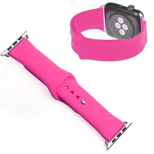 Case 4U Apple Watch Spor Kordon (Slikon) Pembe (42mm)