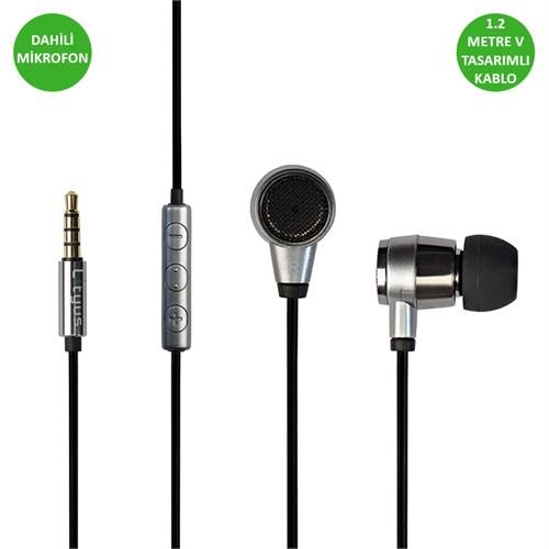 Lityus Kulak İçi Mikrofonlu Kulaklık (Siyah) - AKLHS01