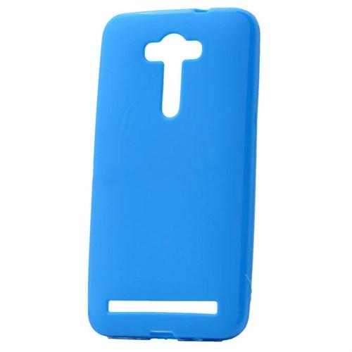 """Case 4U Asus Zenfone Laser 5.5"""" Soft Silikon Kılıf Mavi"""