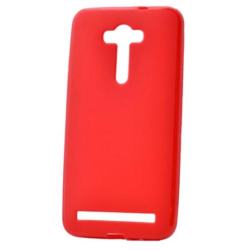 """Case 4U Asus Zenfone Laser 5.5"""" Soft Silikon Kılıf Kırmızı"""
