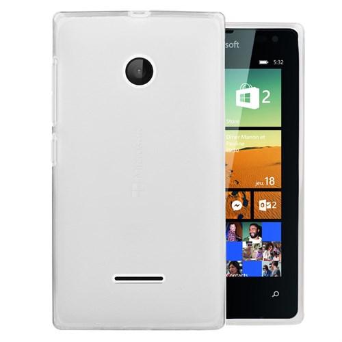 Microsonic Microsoft Lumia 532 Kılıf Transparent Soft Beyaz