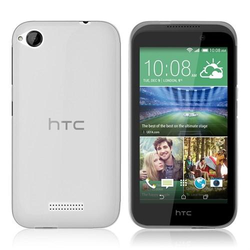 Microsonic Htc Desire 320 Kılıf Transparent Soft Beyaz