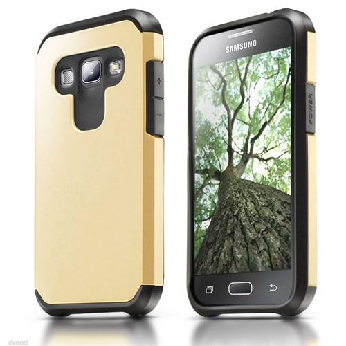 Microsonic Samsung Galaxy A8 Kılıf Slim Fit Dual Layer Armor Gold