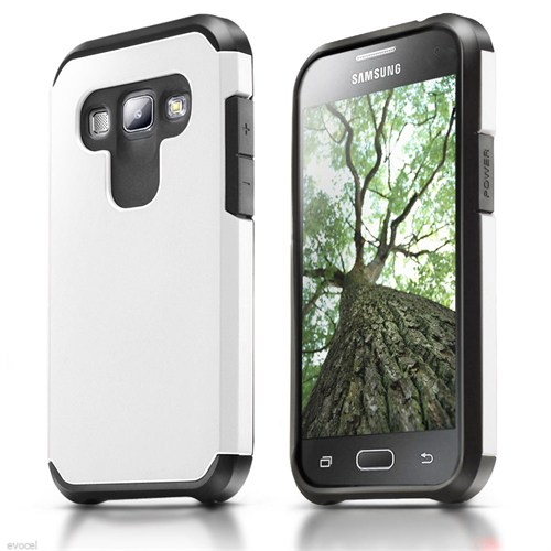 Microsonic Samsung Galaxy A8 Kılıf Slim Fit Dual Layer Armor Beyaz