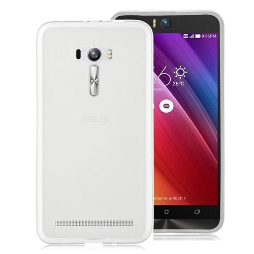 Microsonic Asus Zenfone Selfie Kılıf Transparent Soft Beyaz