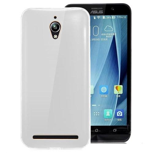 Microsonic Asus Zenfone Go Kılıf Transparent Soft Beyaz