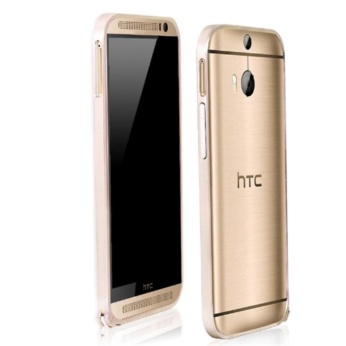 Microsonic Htc One M8s Ultra Thin Metal Bumper Kılıf Gold