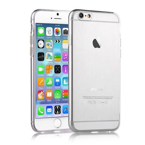 Microsonic Slim Transparent Soft İphone 6S Kılıf Beyaz