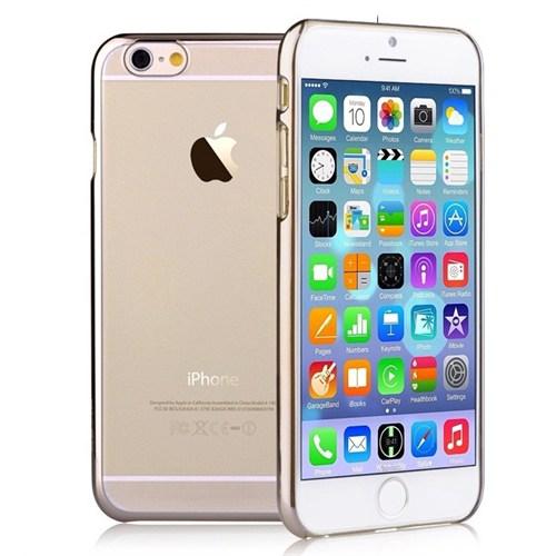Microsonic Metalik Transparent İphone 6S Plus Kılıf Altın Sarısı