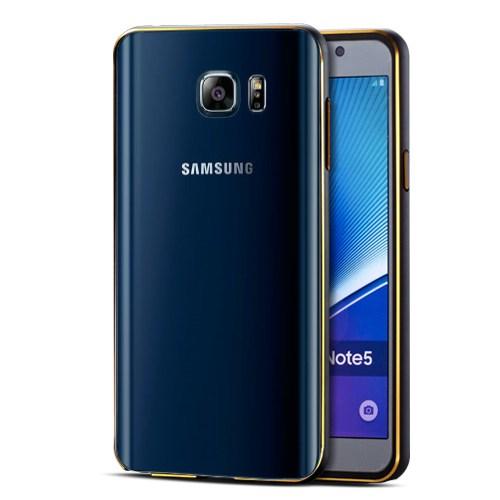 Microsonic Samsung Galaxy Note 5 Kılıf Ultra Thin Metal Bumper Siyah