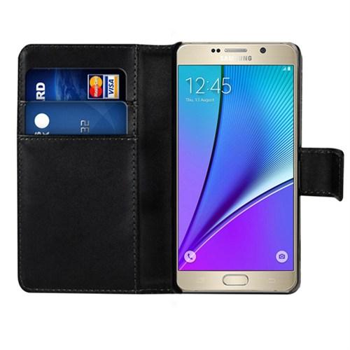 Microsonic Samsung Galaxy Note 5 Kılıf Cüzdanlı Deri Siyah