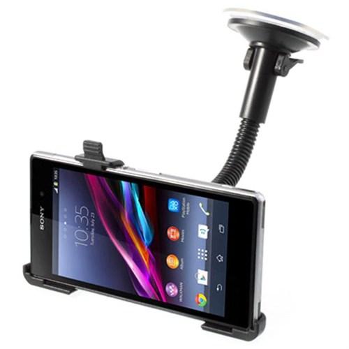Markacase Sony Xperia Z1 Telefon Tutucu Cam Vantuzlu