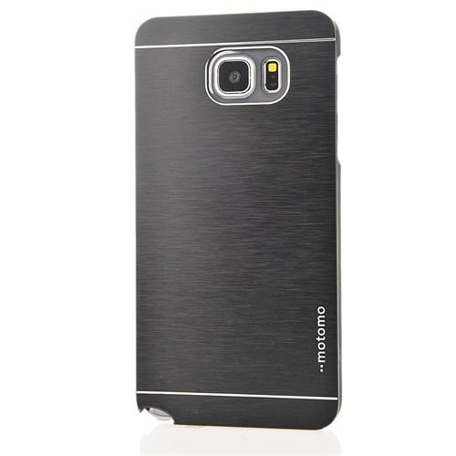 CoverZone Samsung Galaxy Note 5 Kılıf Motomo Siyah