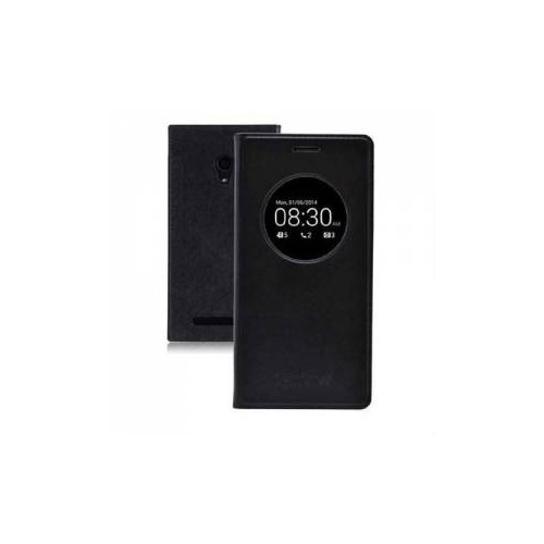"""CaseCrown Asus Zenfone 2 Laser 5.0"""" Flip Cover Miknatıslı Siyah (Uyku Modlu)"""