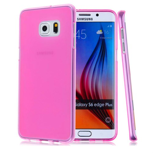 Case 4U Samsung Galaxy S6 Edge Plus Ultra İnce Silikon Kılıf Pembe