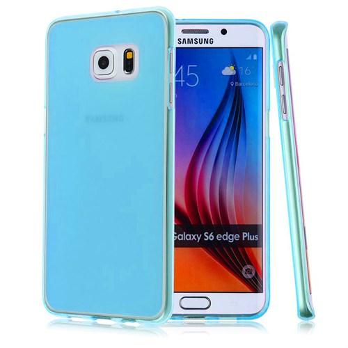 Case 4U Samsung Galaxy S6 Edge Plus Ultra İnce Silikon Kılıf Mavi