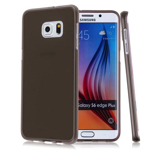 Case 4U Samsung Galaxy S6 Edge Plus Ultra İnce Silikon Kılıf Füme