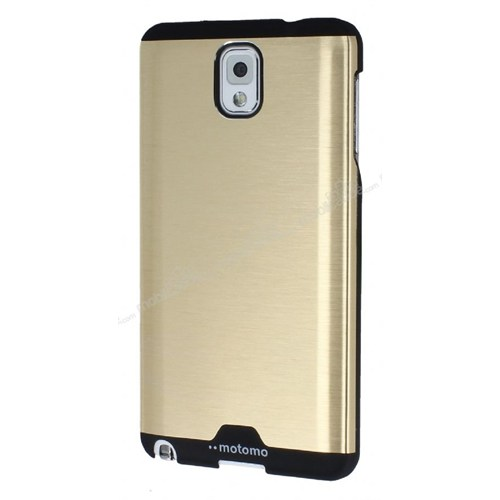 Lopard Samsung Galaxy Note 3 Kılıf Motto Metalik Arka Kapak Atın