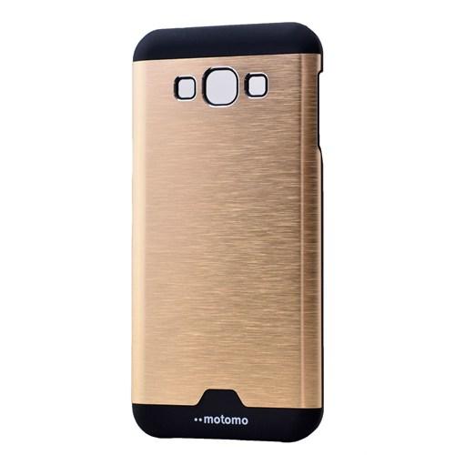 Lopard Samsung Galaxy E7 Kılıf Motto Metalik Arka Kapak Atın