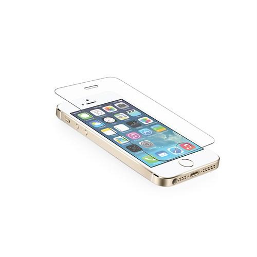 Okmore Apple İphone 5 / 5S Temperli Kırılmaz Cam Ekran 2İn1 0.33 2.5D
